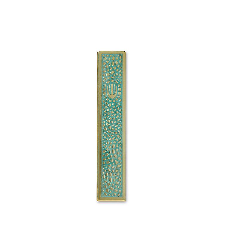 Mezuzah - Shin Mosaic - MZ672C (2)